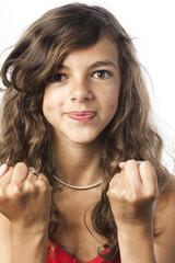 jeune adolescente volontaire