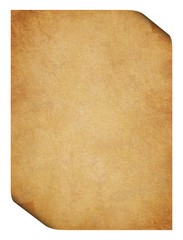 Parchment with folded corners