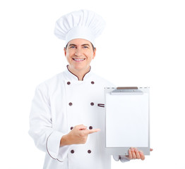 Chef. Isoalted over white background.