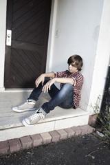 jeune garçon seul