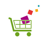 Logo discount. Shopping cart # Vector