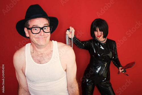 Man Enjoying Dominatrix Fetish