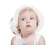 Detaily fotografie holčička v červeném nového roku SZP