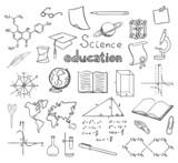Fototapety school and education symbols vector