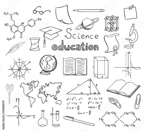 school and education symbols vector