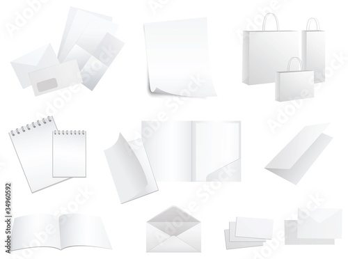 white paper products vector
