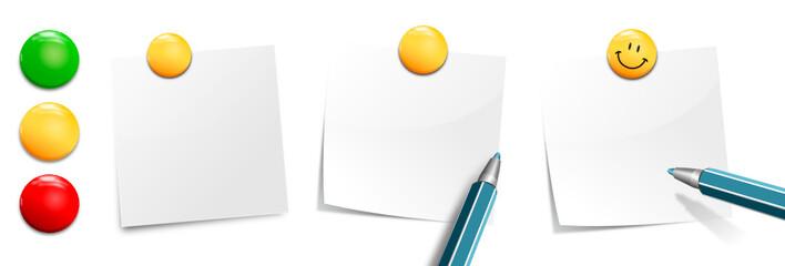 Notizzettel Set mit Stift und Magneten