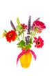 Colorful bouquet garden flowers