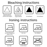Bleaching and Ironing instruction