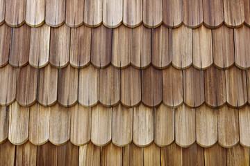 Holzschindeln abgerundet