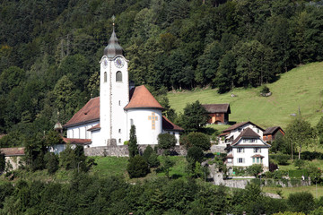 Fluelen church Switzerland