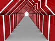 3d house tunnel red