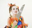 Clownette et sa scie