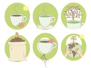 Earth Coffee and Tea Set