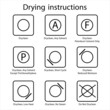 Dryclean instruction