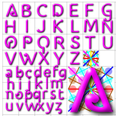 ABC Alphabet background halida pink design