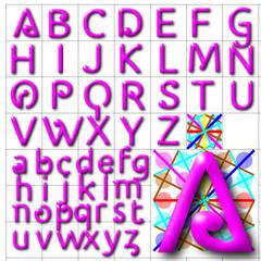 ABC Alphabet background halida pink design