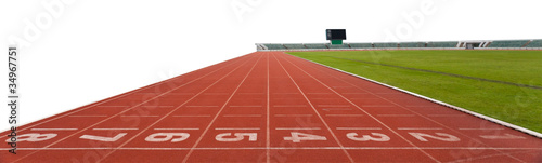 isolated running track numbers