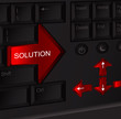 Solution keyboard, arrow
