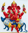 Indian or Hindu ganesha God Named Vijaya Ganapati at temple in t