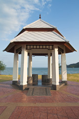 Beautiful rest area on the way beside the beach,North East of Th