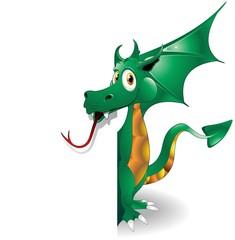 Drago Cucciolo Sfondo-Baby Dragon Background-Vector