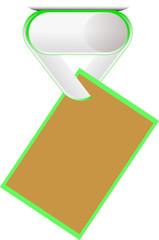 paper clip3 Green