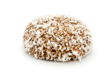 Chocolate and coconut covered marshmallow
