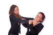 Two Business Women Fighting