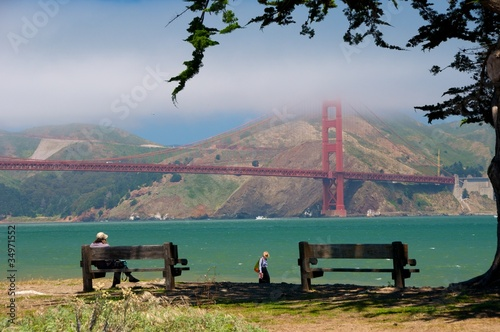 Panchine e relax al Golden Gate