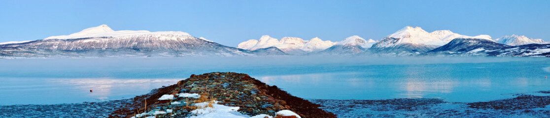 Winter's Tale. Panorama. Norway.