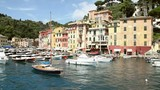 santa margherita ligure, italy, with sea and boats
