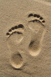 Two human footprints