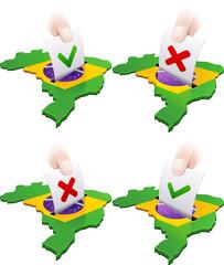 Référendum au Brésil : pour ou contre (détouré)