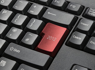 Red Key On Computer Keyboard Entitled 2012