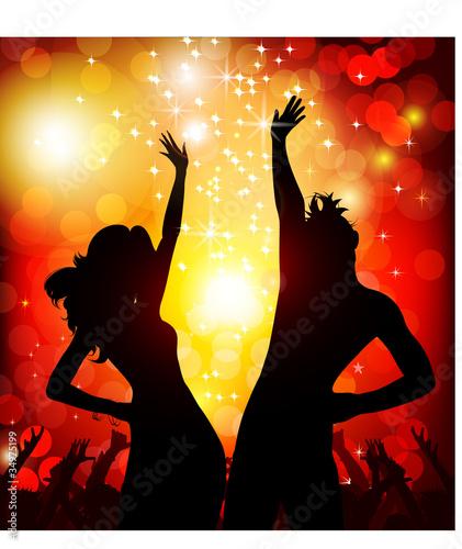 festive party in the nightclub