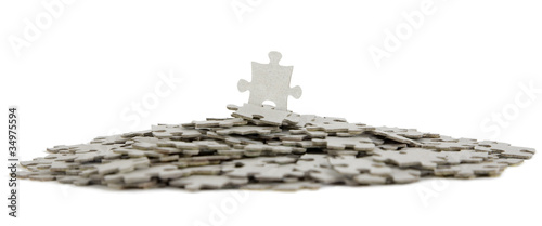 Jigsaw puzzle, success in business concept