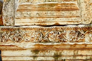 Ancient patterns in Ephesus, Turkey.
