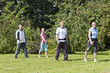 Gruppe beim nordic walking outdoor