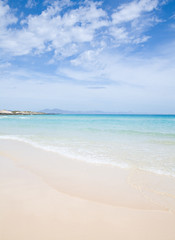 Fuerteventura, beautiful sandy beach