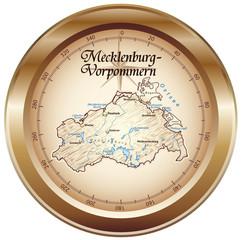 Mecklenburg-Vorpommern Kompass bronze in SVG