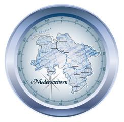 Niedersachsen Kompass in blau in SVG