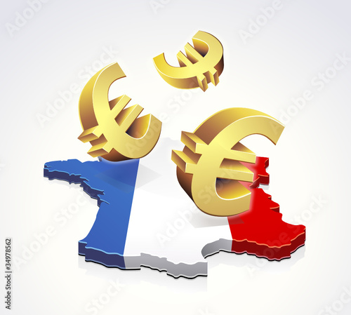 Mouvement d'euros en France