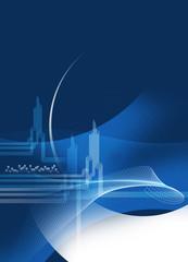 finacial blue template