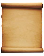 Foglio di pergamena su fondo bianco
