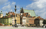 Fototapety Sigismund column on Warsaw old town royal castle square