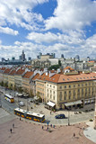 Fototapety View on both old and new polish capitol, Warsaw