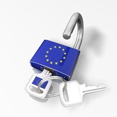 LUCCHETTO APERTO UNIONE EUROPEA UE