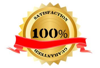 Boton 100% satisfaccion garantizada
