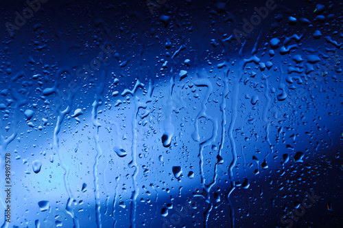 Wet Blue Glass